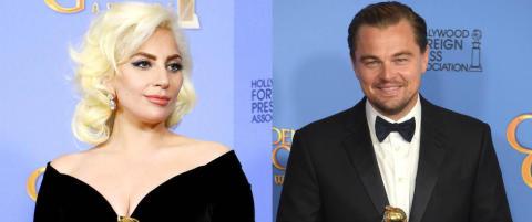 DiCaprio får slakt for reaksjonen sin etter at Lady Gaga dulta borti ham