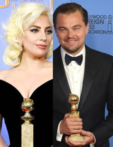 DiCaprio f�r slakt for reaksjonen sin etter at Lady Gaga dulta borti ham