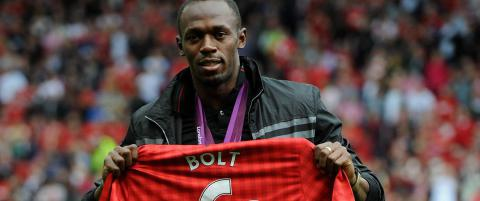 Usain Bolt dr�mte om � spille for United. �n mann har forandret p� alt