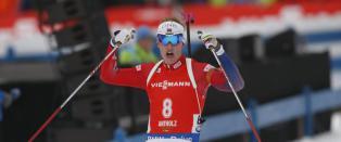 Lillebror B� knuste Fourcade i duell: - S� viktig for norsk skiskyting