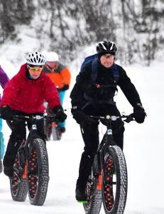 Ny trend p� fjellet: Fatbike er en sykkel med nesten tre ganger s� tjukke dekk