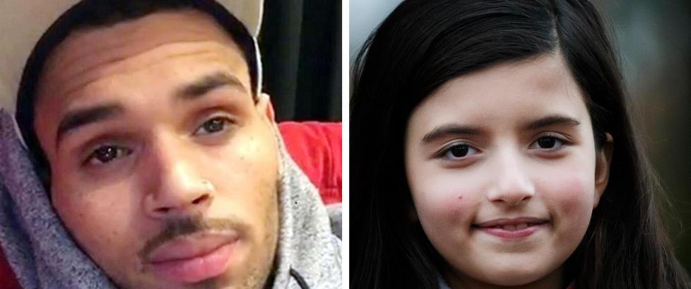 Chris Brown sammenlikner norske Angelina (10) med Amy Winehouse