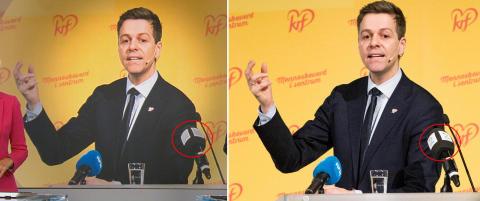 NRK fjernet TV 2-logo fra bilde vist under L�rdagsrevyen