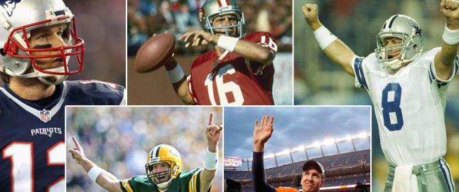 I natt er det Super Bowl - her er historiens 10 beste quarterbacker