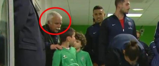Den lille gutten blir offer for mannens frekkis, men n� hylles Zlatans grep