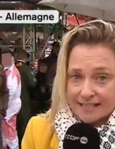 Ble bef�lt mens hun rapporterte live p� tv: - Han hvisket meg i �ret: �Vil du ligge med meg i kveld?�
