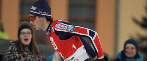 Jarl Magnus Riiber (18) tok sin f�rste verdenscupseier i Holmenkollen