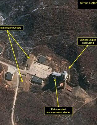 Aktivitet ved Nord-Koreas rakettbase