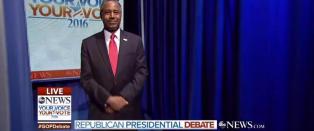 Carson og Trump med uforst�elig opptreden f�r Republikanernes debatt