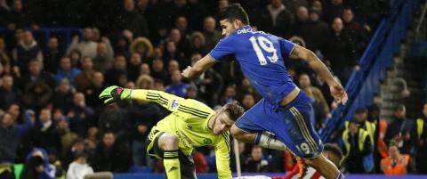 Costa utlignet p� overtid og truer van Gaals jobb