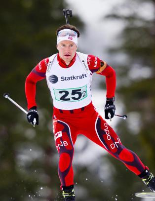 Superreserven H�vard Bogetveit (23) s�rga for bronse i mixstafetten