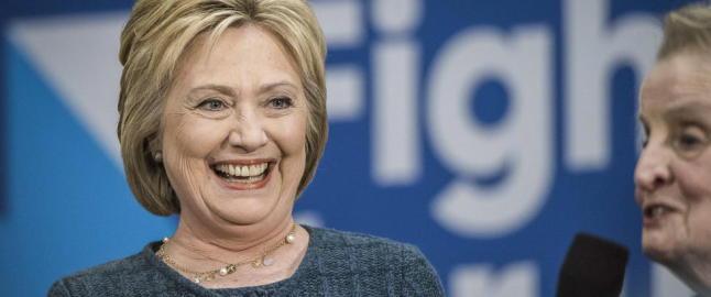 Hillary representerer makta