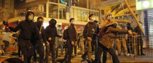 Voldsomme oppt�yer i Hongkongs gater