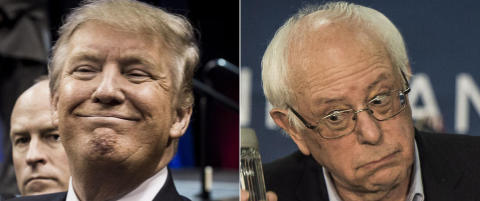 De usannsynlige kandidatene: Trump og Sanders vinner i New Hampshire