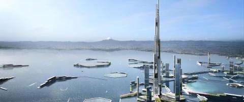 Har tegnet skyskraper p� 1600 meter med plass til like mange innbyggere som i Norges 12. st�rste kommune