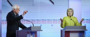 Amper debatt mellom Clinton og Sanders