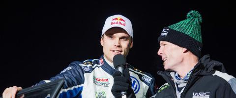 Mikkelsen med god start p� Rally Sverige