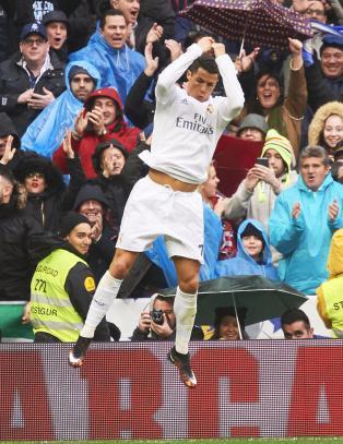 S� glad ble Ronaldo da han inntok scoringstoppen i spansk fotball
