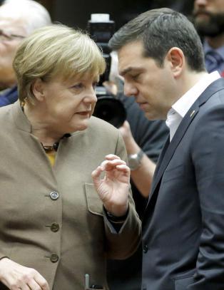 Angela Merkel og Alexis Tsipras er ikke i samme b�t, men i samme havsn�d.
