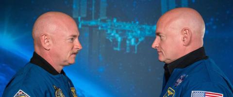 Da astronaut Scott Kelly kom tilbake etter ett �r i rommet, var han h�yere enn tvillingbroren