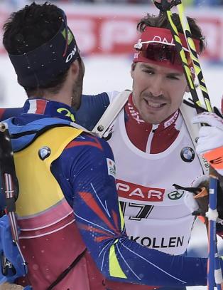 Dr�mmedag: Ole Einar (42) med sin 42. medalje da illsint Super-Svendsen slo kraftig tilbake