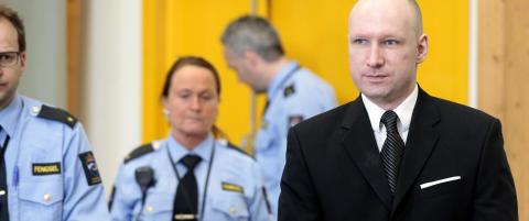 Alle andre innsatte l�ses inn n�r Breivik skal luftes