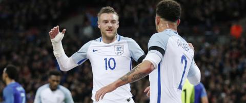Vardy scoret igjen da England kom ned p� jorda