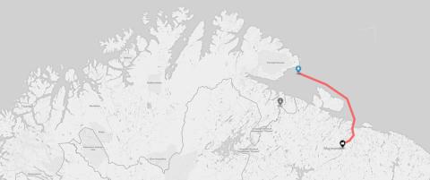 Ny flyktningrute i nord