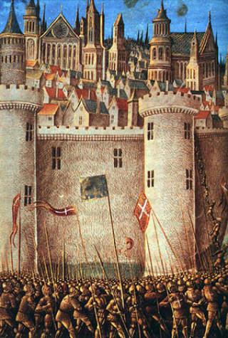 EROBRINGEN AV ANTIOKIA: Byen ble tatt av korsfarere 3. juni 1098. Dette var en av Midt�stenes sterkeste festninger. Den var under muslimsk herred�mme. Det tok �tte m�nder f�r de kristne fikk kontroll. Foto: WIKIMEDIA
