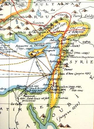 DET HELLIGE LAND: Korsfarere opprettet kristne stater i Midt-�sten fra slutten av 1000-tallet. De ble der i 200 �r. Foto: WIKIMEDIA