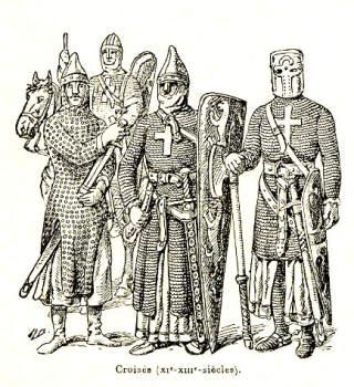 ELITESOLDATER: Til enhver tid forsvarte riddere Det hellige land. Ridderordnene ble sendt fra Europa med oppgaven � beskytte de kristne som bodde i Palestina. De samlet ogs� inn penger til � finansiere oppdragene i hjemlandene sine. Foto: WIKIMEDIA