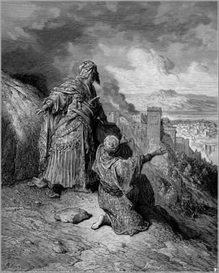 BLODT�RSTIGE UHYRER: Slik ble muslimene fremstilt av den katolske kirken. Dette bildet fremstiller to fiender av korstoget og ble laget av Gustave Dor� p� 1800-tallet. Foto: WIKIMEDIA