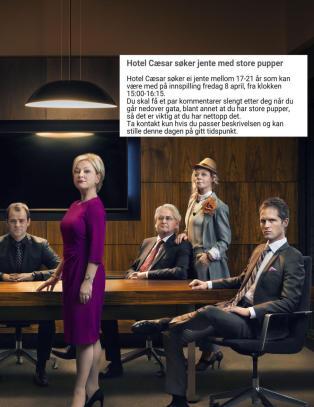 «Hotel Cæsar» søkte etter jente med store pupper: - Vi beklager den formuleringa