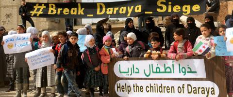Desperat rop om hjelp fra innesperrede syrere