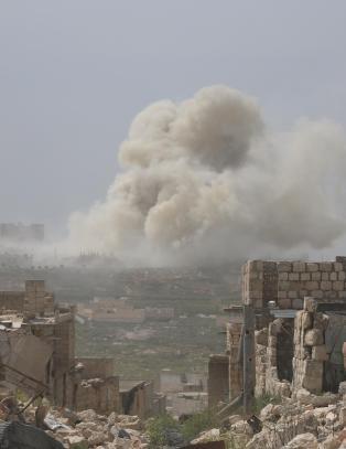 Harde kamper ved Aleppo