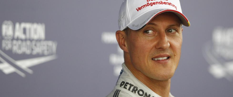 Raste da Formel 1-f�rer fors�kte � v�re morsom med Schumacher-bilde