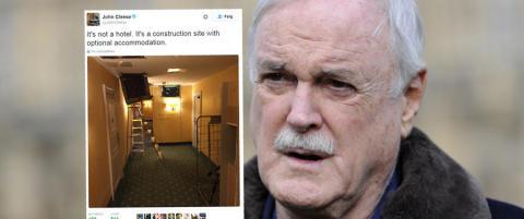 Komilegenden hardt ut mot svensk hotell: - Byggeplass med valgfri overnatting