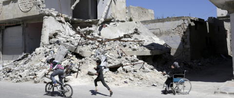 Syria: - Vi er livredde for at alt skal rase, og n� er grensene stengt fra Norge til Tyrkia
