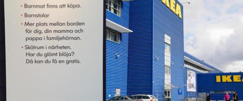 Dette Ikea-skiltet fikk svenske Beatrice til � reagere