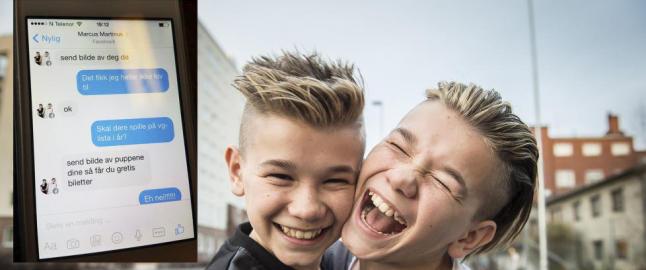 Falsk Marcus og Martinus-konto p� Facebook pr�ver � lure jenter