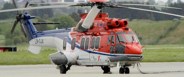 Luftfartstilsynet vurderer s�rskilte tiltak mot ulykkesrammet helikoptertype