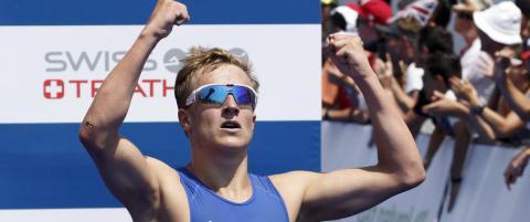 Triatleten Kristian Blummenfelt banket alle i Madrid