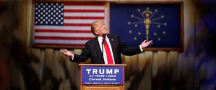 Trump sikker p� seier f�r nattas skjebnevalg. Rivalen skjelt ut av 12-�ring og kona ble spurt om han er massemorder