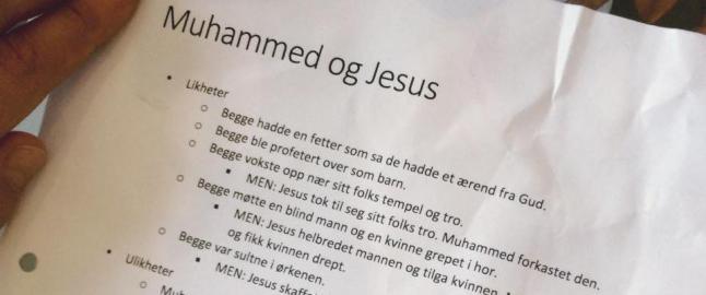 Kristen privatskole legger seg flat etter sammenlikning av Jesus og profeten Muhammed