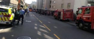 55 personer evakuert etter leilighetsbrann i Oslo