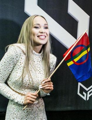 Agnete f�r bruke det samiske flagget i MGP