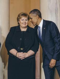 Slik skal Erna sjarmere Obama til � gj�re mer