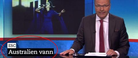 SVT annonserte feil Eurovision-vinner p� direkten