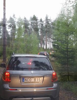 Bilistene fulgte omskiltingen p� E16, og endte opp langt til skogs