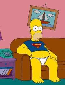 Homer svarte p� sp�rsm�l fra seerne direkte - uten manus